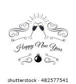 sparkling champagne glasses.... | Shutterstock .eps vector #482577541