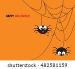 halloween spider concept.... | Shutterstock .eps vector #482581159