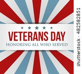 veterans day background. usa... | Shutterstock .eps vector #482582851