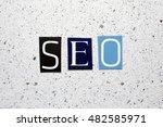 seo  search engine optimization ... | Shutterstock . vector #482585971