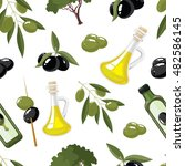 Seamless Pattern Set Of Olive...