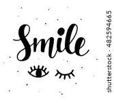 smile inspirational poster.... | Shutterstock .eps vector #482594665
