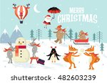christmas greeting  winter... | Shutterstock .eps vector #482603239