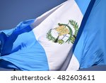 guatemala flag waving on the... | Shutterstock . vector #482603611