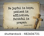 Small photo of TOP- 100. Bible Verses about Hope. Be joyful in hope, patient in affliction, faithful in prayer.
