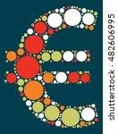 eur shape vector design by... | Shutterstock .eps vector #482606995