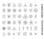sacred geometry signs... | Shutterstock .eps vector #482610841