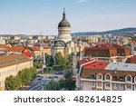 Panorama of Cluj Napoca with The Dormition of the Theotokos Cathedral, Transylvania, Romania