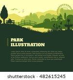 park illustration background