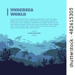 undersea world illustration...   Shutterstock .eps vector #482615305