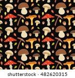 Mushroom Flat Illustration...
