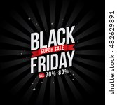 black friday sale with discount ... | Shutterstock .eps vector #482629891