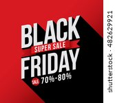 black friday sale with discount ... | Shutterstock .eps vector #482629921