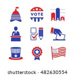 political icons set | Shutterstock .eps vector #482630554