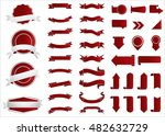ribbon vector icon red color on ... | Shutterstock .eps vector #482632729