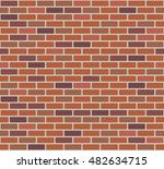 brick wall seamless vector... | Shutterstock .eps vector #482634715