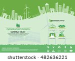 ecology connection  concept... | Shutterstock .eps vector #482636221