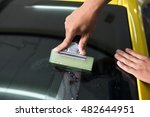 windshield protection film... | Shutterstock . vector #482644951