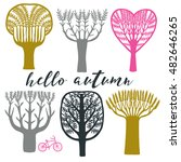 hello autumn. print design | Shutterstock .eps vector #482646265