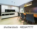 modern elegant white flat... | Shutterstock . vector #482647777