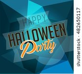 halloween party background with ... | Shutterstock .eps vector #482650117