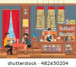 pair of lovers on a date in the ... | Shutterstock .eps vector #482650204