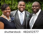 groom and his parents.  | Shutterstock . vector #482652577
