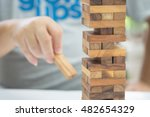 wood blocks stack game | Shutterstock . vector #482654329