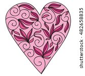 beautiful heart. valentines day ... | Shutterstock .eps vector #482658835