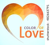 logo heart multi color geometic ...   Shutterstock .eps vector #482663791