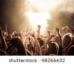 Crowd At A Concert  Hands Up....