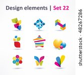 business design elements   icon ... | Shutterstock .eps vector #48267286