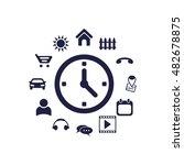 clock icon  vector  icon flat