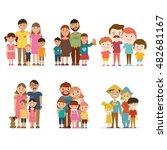a set of happy families  vector ... | Shutterstock .eps vector #482681167