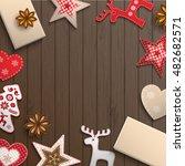 christmas background  small... | Shutterstock .eps vector #482682571