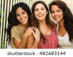 beautiful diverse hispanic women | Shutterstock . vector #482683144