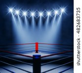 boxing ring corner and... | Shutterstock . vector #482683735