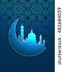 vector illustration  mosque... | Shutterstock .eps vector #482684059