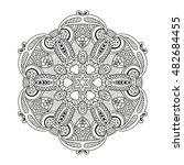 adult coloring page. mandala... | Shutterstock .eps vector #482684455
