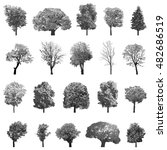 vector set of trees  | Shutterstock .eps vector #482686519