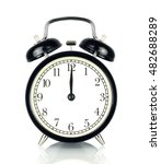 alarm clock isolated on white ... | Shutterstock . vector #482688289