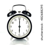 alarm clock isolated on white ... | Shutterstock . vector #482688295