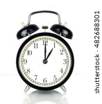 alarm clock isolated on white ... | Shutterstock . vector #482688301