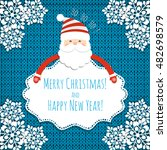 christmas background with santa ... | Shutterstock .eps vector #482698579