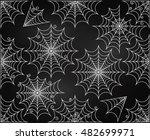 vector set of chalkboard style... | Shutterstock .eps vector #482699971