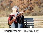 Little Granny With Shotgun