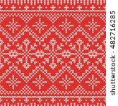 christmas knitting seamless... | Shutterstock .eps vector #482716285