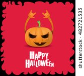 happy halloween vector creative ... | Shutterstock .eps vector #482721535