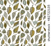 hand drawn seamless pattern... | Shutterstock .eps vector #482722135