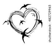 swallow vector illustration... | Shutterstock .eps vector #482729965